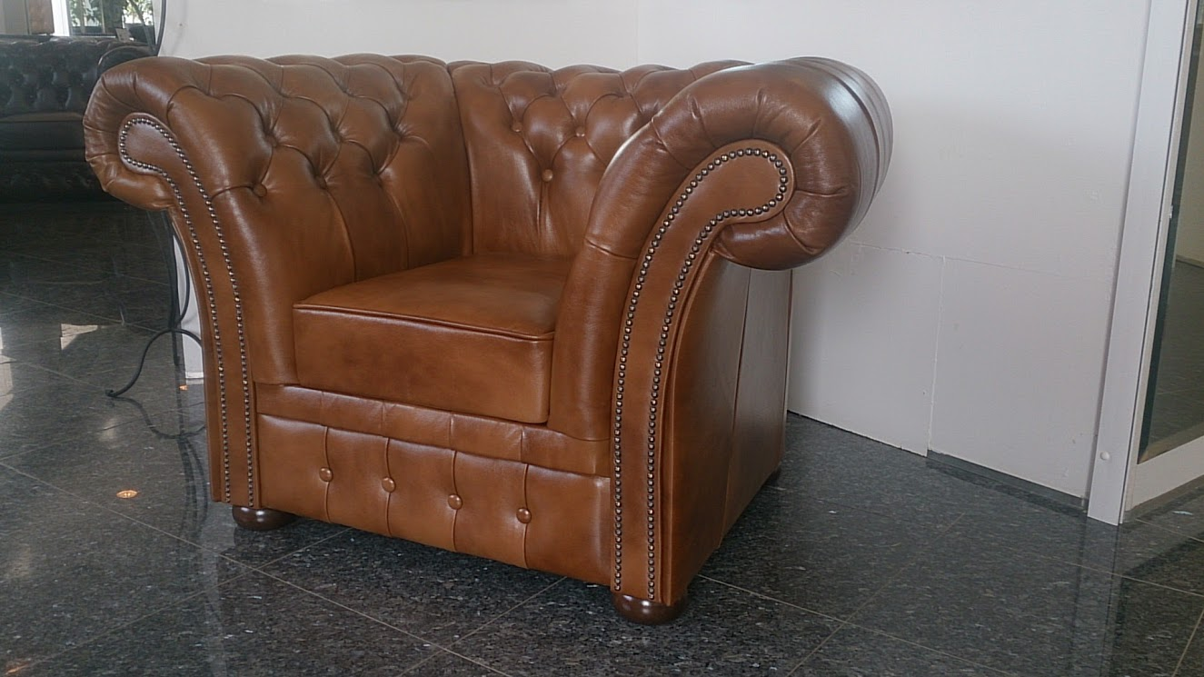 Chesterfield Windchester Fauteuil Antik Gold (S12)