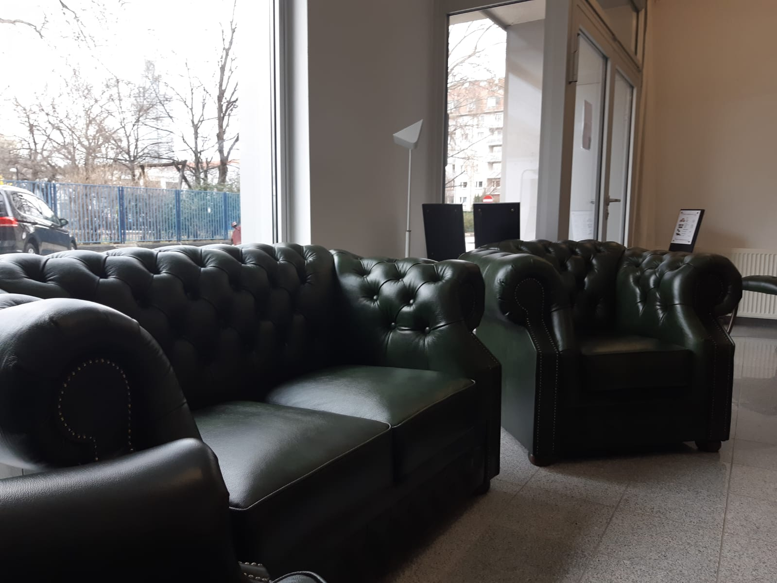 -10% Chesterfield Windsor 321 Sofagarnitur Antique Green