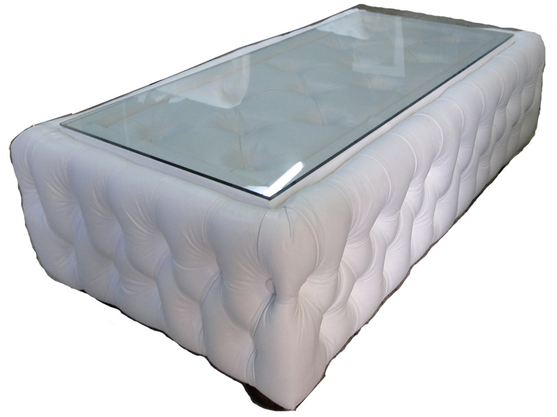 Chesterfield Coffetable 50x150 Weiss (K1)