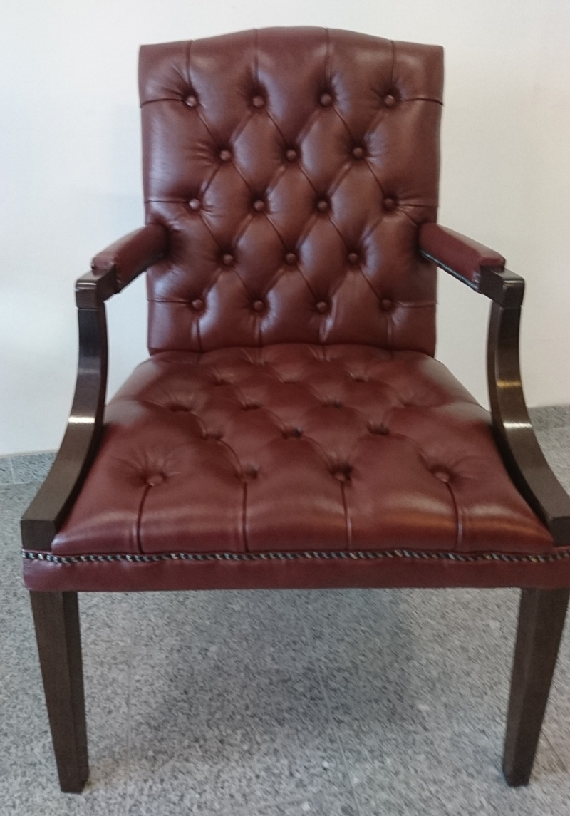Chesterfield King Armstuhl Cognac (A4)