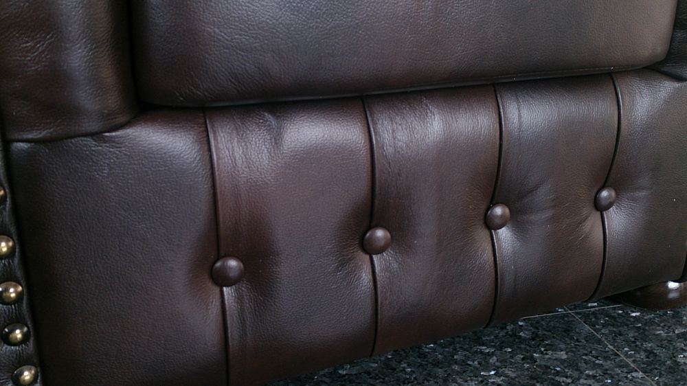 Chesterfield Klassik Sessel Antikbraun (A5)