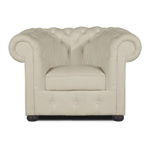 Chesterfield Klassik Sessel White (K2)