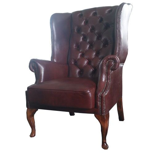 Chesterfield St. James Ohrensessel Antikcognac (A4)