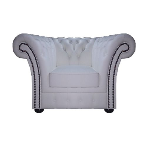 Chesterfield Windchester Fauteuil Weiss (K1)