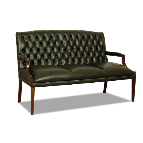 Chesterfield King 3 sitzer ledersofa Antikgrun (A8)