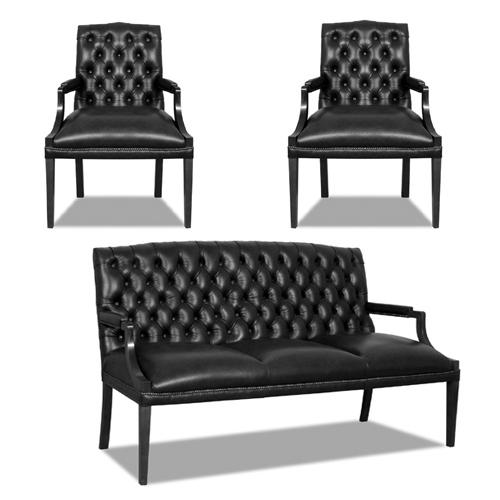 chesterfield sofa sessel im englischer stil. Black Bedroom Furniture Sets. Home Design Ideas