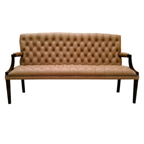 Chesterfield King 3 Sitzer Ledersofa Cappucchino