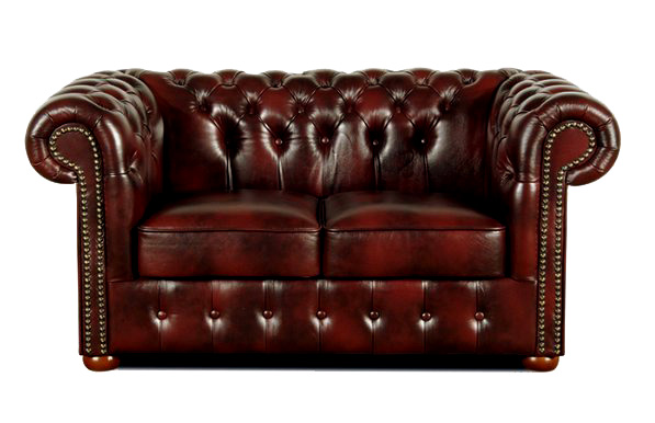 Chesterfield Classic 2-Sitzer Ledersofa Antikrot (A7)