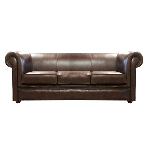 Chesterfield London 3 sitzer Ledersofa Antikbraun(A5)