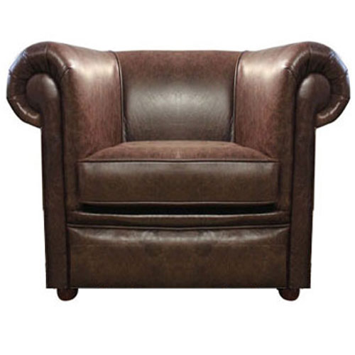 Chesterfield London Ledersessel Antikbruan (A5)