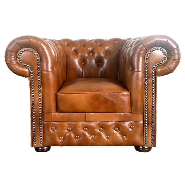 Chesterfield Lord Sessel Antikgold (S12)