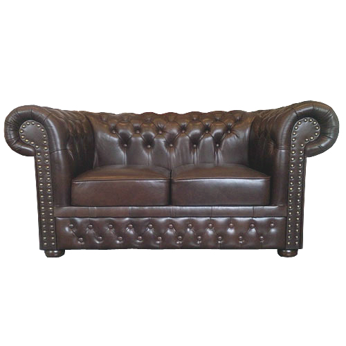 Chesterfield Lord 2 sitzer Ledersofa Antikbraun (A5)