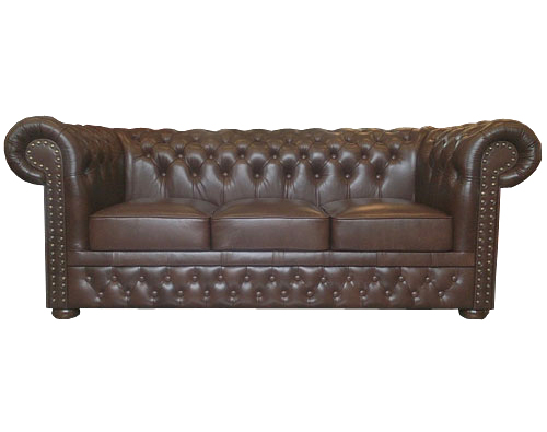 Chesterfield Lord 3 sitzer Ledersofa Antikbraun(A5)