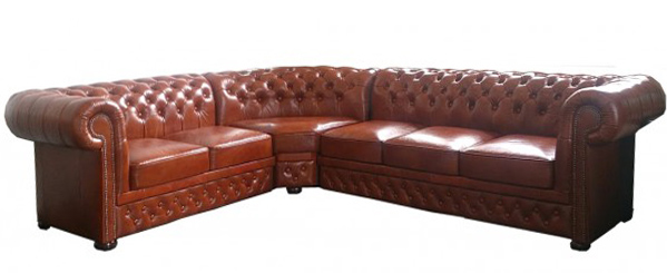 Lord 2+3 Haselnuss Chesterfield Ecksofa 235 cm x 280 cm