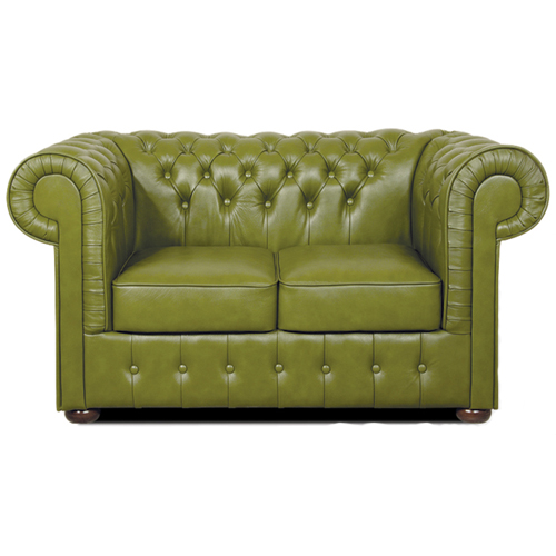 Chesterfield Mark 2 sitzer Ledersofa olive