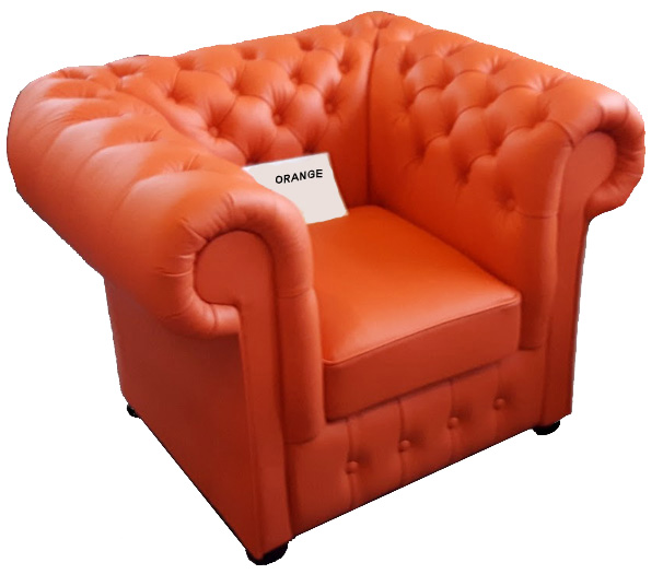 Chesterfield Klassik Sessel Orange K6