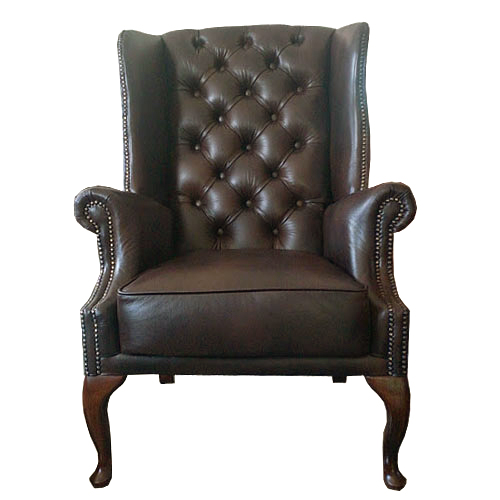 Chesterfield St. James Ohrensessel Antikbraun (A5)
