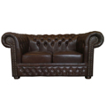 Chesterfield 2er Ledersofa, Sofa