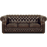 Chesterfield Windsor 3-er Ledersofa, Sofa