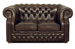 Chesterfield Windsor 2-er Ledersofa, Sofa